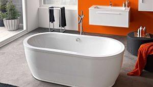 Овальные ванны: конструктивные особенности и советы по выбору