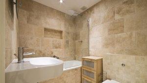 Плитка под камень для ванной: особенности выбора