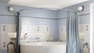 Полукруглый карниз для ванной: виды и советы по выбору