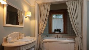 Шторка для ванной из ткани: виды и критерии выбора