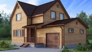 Двухэтажный дом из бруса: чертежи и схемы строительства