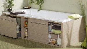 Раздвижные экраны под ванну: разновидности и размеры