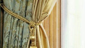 Аксессуары для штор: декор и фурнитура, красивые примеры в интерьере