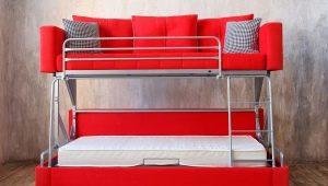 Диван, трансформирующийся в двухъярусную кровать