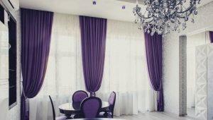 Фиолетовые шторы – модные решения
