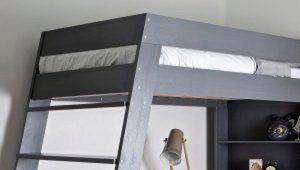 Кровати-чердаки с рабочей зоной для подростков