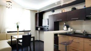 Кухня-гостиная площадью 13 кв. м