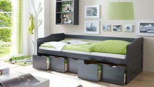Подростковые модели кроватей с ящиками