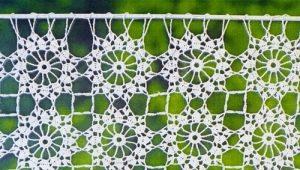 Вязаные шторы: макраме, крючок или спицы?