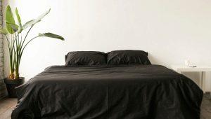 Черное постельное белье: особенности выбора и использования