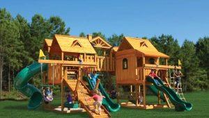 Деревянные детские площадки: что интересно детям и как это реализовать?