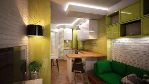 Проектирование и дизайн интерьера кухонь-гостиных площадью 12 кв. м
