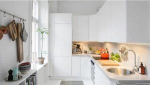 Белая столешница в интерьере кухни