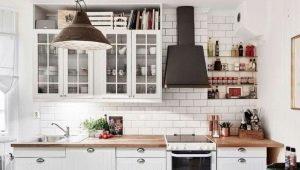 Декорируем кухню плиткой под кирпич