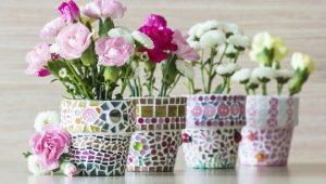 Как украсить кашпо для цветов своими руками?