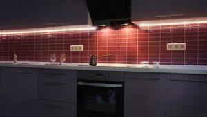 Особенности светодиодной подсветки для рабочей зоны кухни