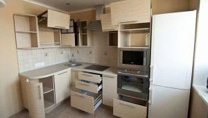 Размеры угловых кухонных шкафов