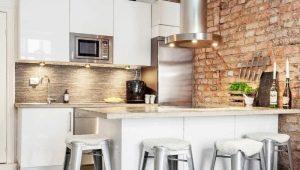 Секреты оформления маленькой кухни в стиле лофт
