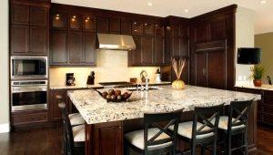 Темные кухни: выбор цвета и примеры в интерьере