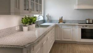Выбор цвета столешницы для белой кухни