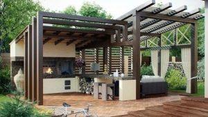 Беседка с летней кухней: особенности и дизайн