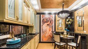 Декорируем кухню в стиле арт-деко