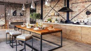 Стили кухонных столов