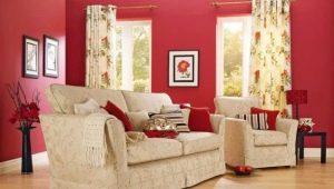 Варианты использования красного цвета в интерьере