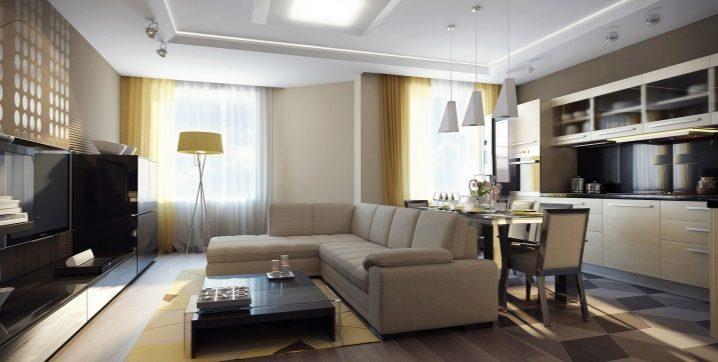 Дизайн однокомнатной квартиры площадью 35 кв. м.