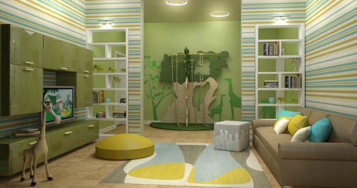 Как совместить гостиную и детскую в одной комнате?
