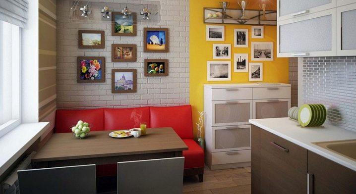 Цветовая гамма диванов на кухню