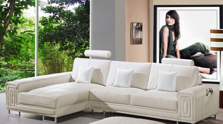 Белые угловые диваны