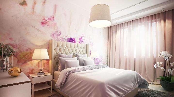 Дизайн спальни  площадью 18 кв. м