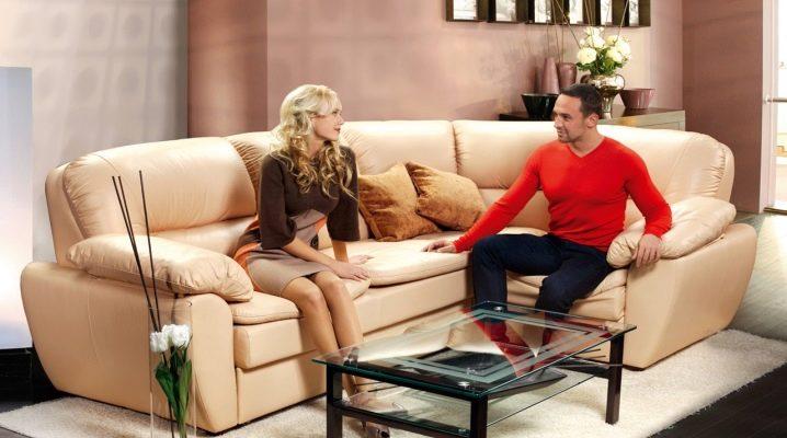 Размеры угловых диванов