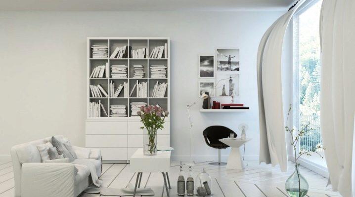 Книжные шкафы белого цвета