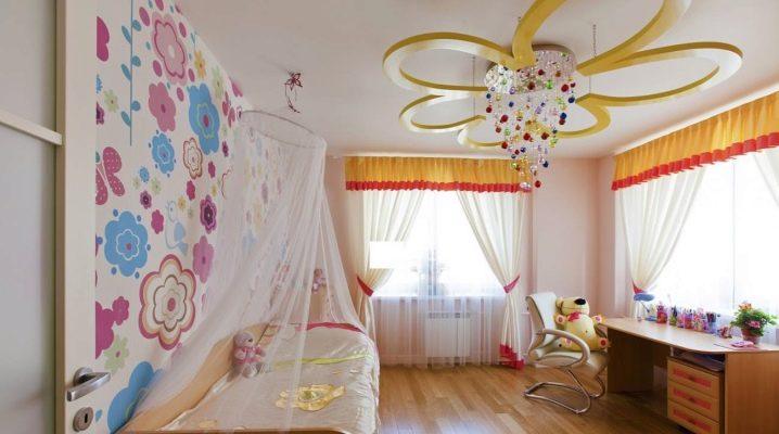 Люстры в детскую комнату девочки