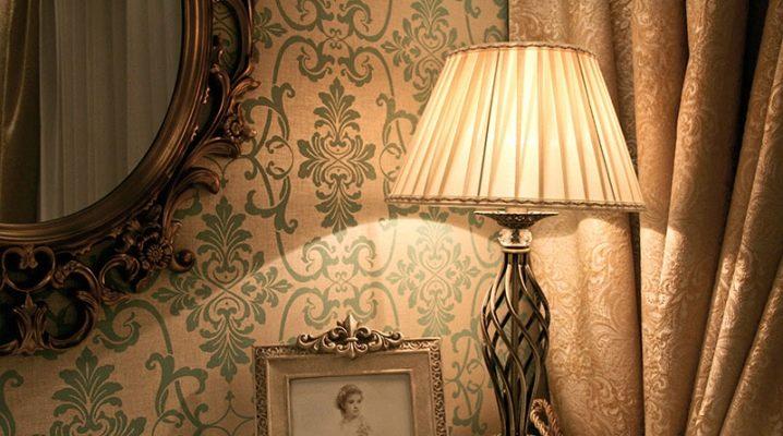 Настольные лампы в различных стилевых решениях