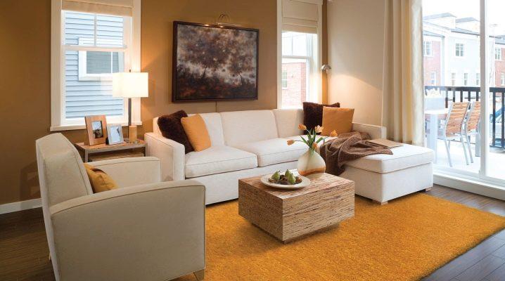 Однотонные ковры: идеи сочетаний в интерьере