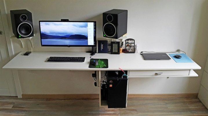 Как выбрать компьютерный навесной стол?