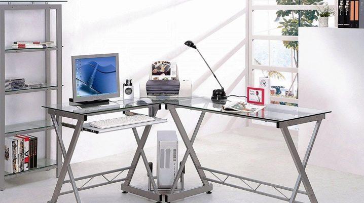 Каким должен быть угловой стеклянный компьютерный стол?