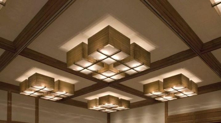 Квадратные потолочные светильники