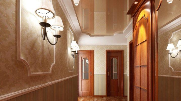 Особенности натяжных потолков в коридоре