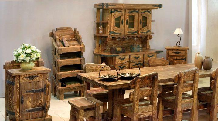 Столы из массива сосны в интерьере