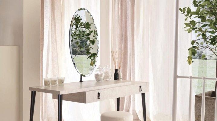 Белые туалетные столики с зеркалом: особенности дизайна