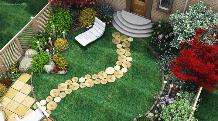 Ландшафтный дизайн на 6 сотках дачного участка - 40 фото