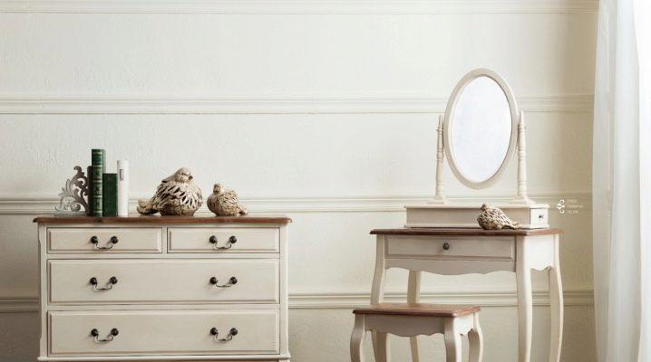 Угловые туалетные столики с зеркалом: особенности выбора