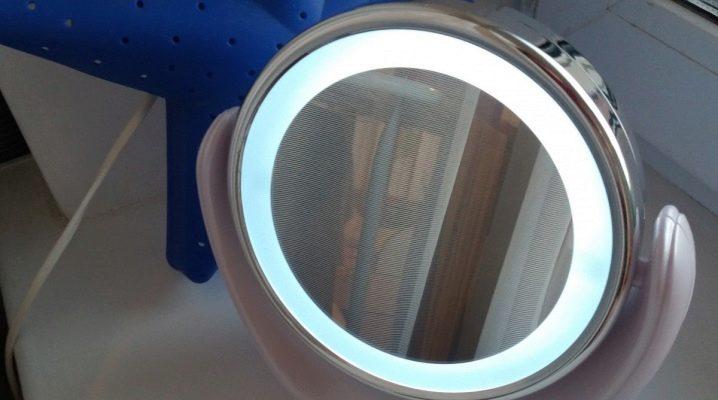 Увеличительное зеркало с подсветкой