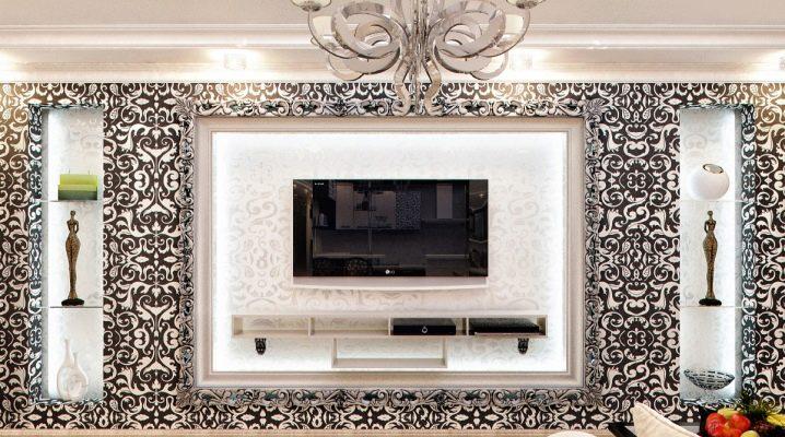 Ниша под телевизор из гипсокартона: варианты дизайна