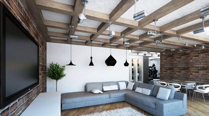 Особенности потолков в стиле «лофт»: варианты оформления