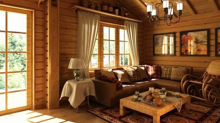Комната отдыха из дерева